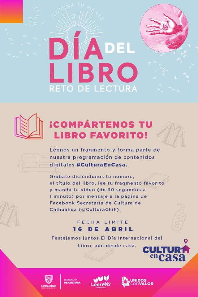 Invitan a Reto de lectura para celebrar el Día Mundial del Libro y del Derecho de Autor