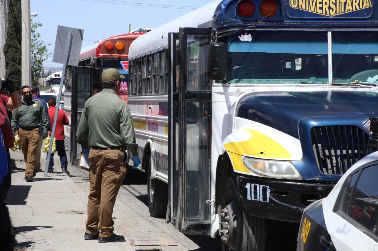 Peticiones de manifestantes de concesionarios y choferes, no son competencia de Transporte Público