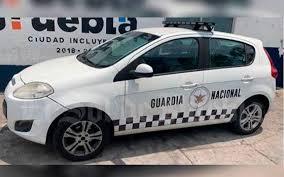 Atrapan en Puebla en unidad falsa de la Guardia Nacional a sujetos