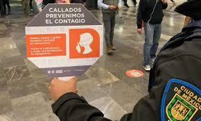 Llaman a guardar silencio en el metro para evitar contagios de COVID 19