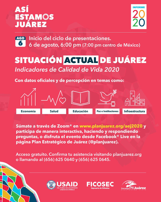 Mañana jueves inicia el Informe Así Estamos Juárez 2020:  Plan Estratégico de Juárez