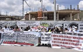 Protestas en San Luis Potosí durante reunión de la CONAGO
