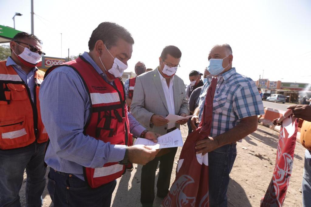 Arranca Alcalde reconstrucción de dos cruceros en Juárez-Porvenir y Riberas del Bravo