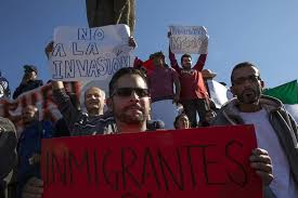Migrantes en Tijuana protestan para exigir refugio a Estados Unidos