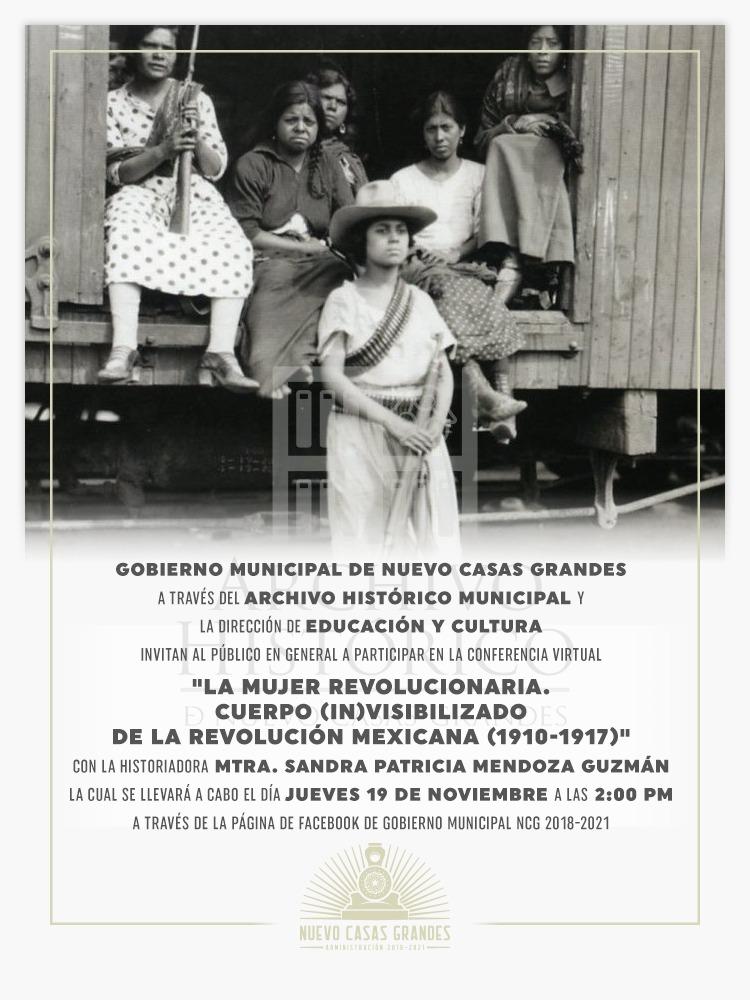Ofrecerá Municipio de NCG Conferencia Sobre al Mujer Revolucionaria