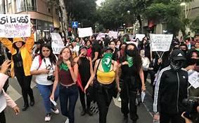 Feministas marchan en CDMX. Por el asesinato de Victoria Esparza